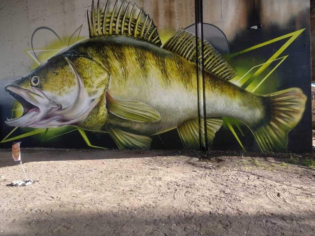 graffiti zachwyca wedkarzy